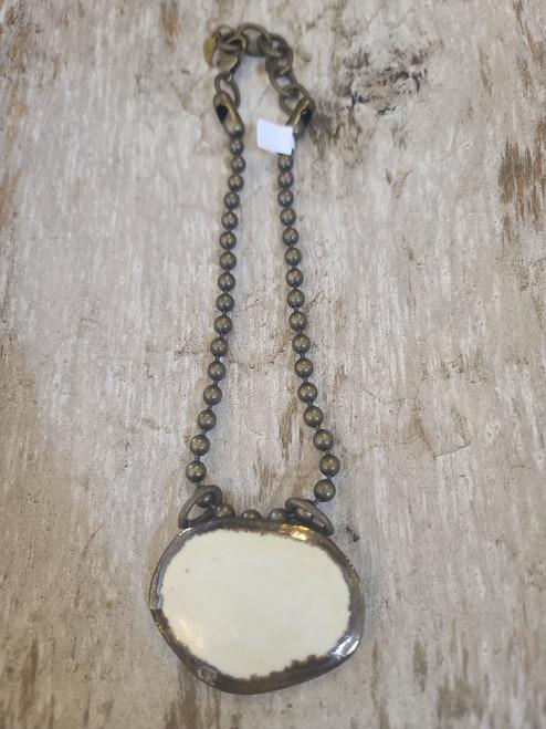 Dandy Ceramic Necklace (Cream)