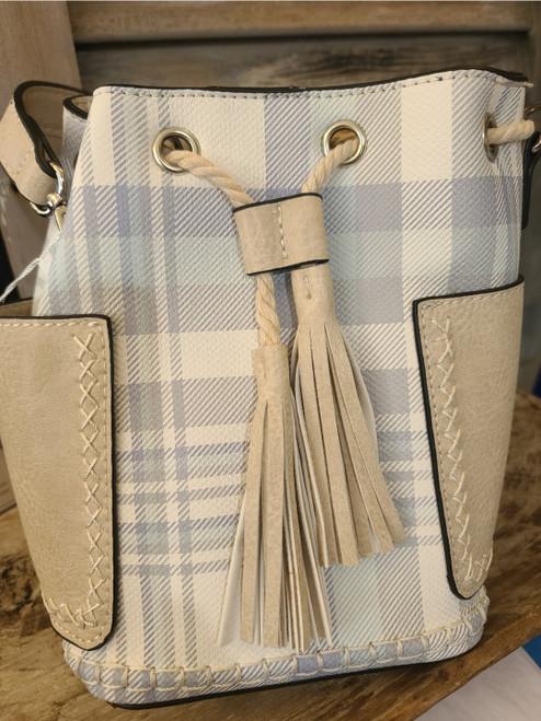 Bucket Bag (Plaid Blue)