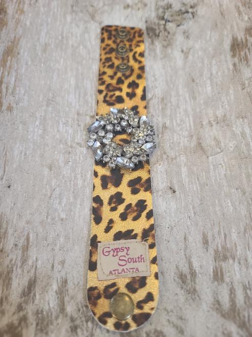 Gypsy South Cheetah Leather Bracelet