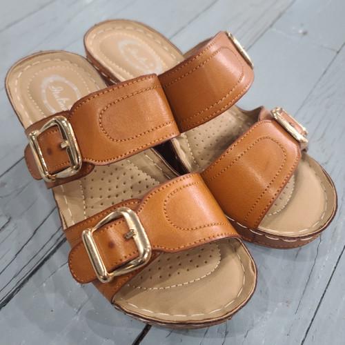 Italina Tan Wedge Sandals
