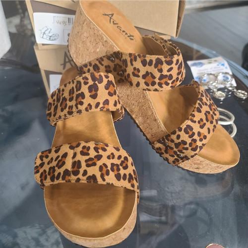 Avanti Leopard Wedge