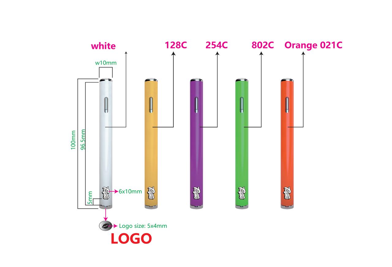 0 5ml Disposable Ceramic Vape Pen - Oval Shaped
