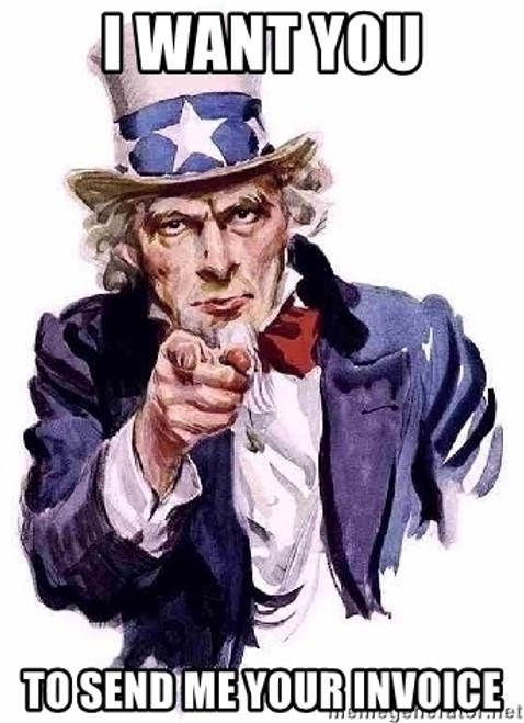 Uncle Sam Send me your Invoice