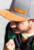Suede bill hat