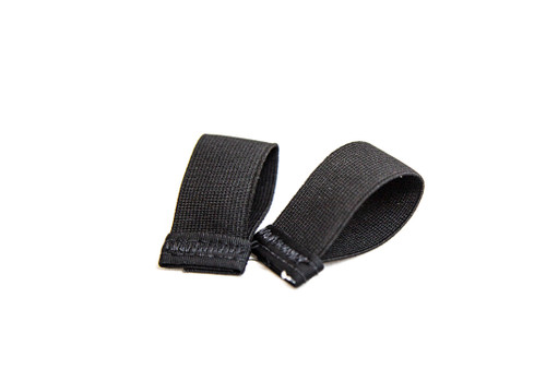 Elastic keeper for chest strap or leg straps