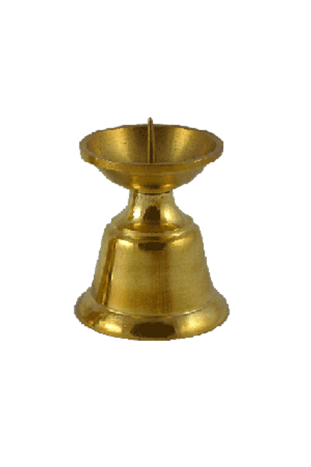 """Candleholder - Brass 1.75""""H"""