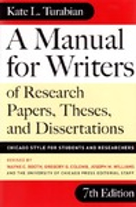 A Manual for Writers 8th Edition