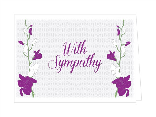 With Sympathy - Orchid