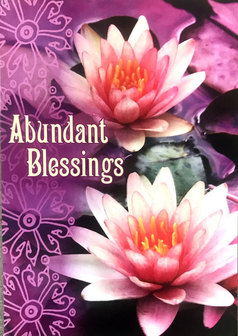 Blank Card - Abundant Blessings