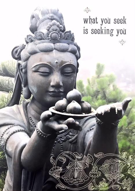Blank Card - what you seek is seeking you
