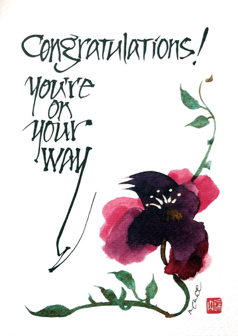 Calligraphy - Congratulations! You're on your way