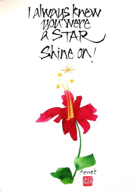 Calligraphy - I always knew you were a star