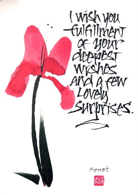 Calligraphy - I wish you fulfillment