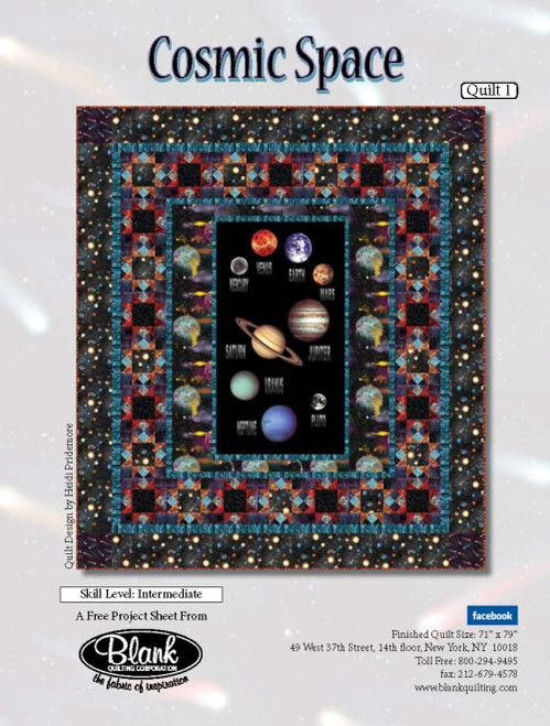 Cosmic Space Quilt #1, Current Project, The Blank Quilting Corporation