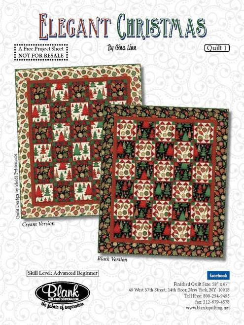 Elegant Christmas Quilt #1