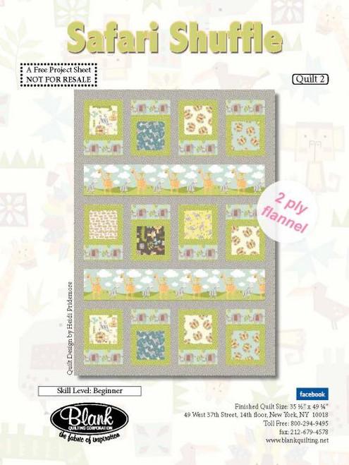 Safari Shuffle Flannel Quilt #2