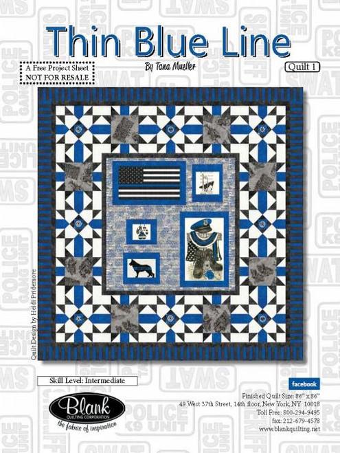 Thin Blue Line Quilt #1