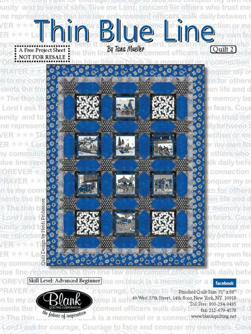 Thin Blue Line Quilt #2