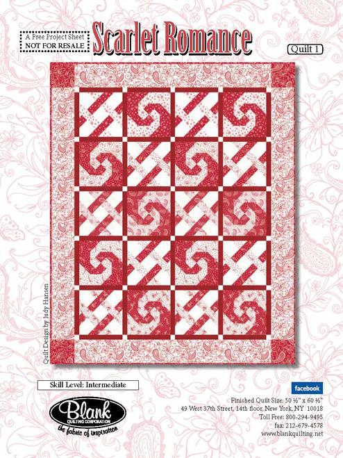 Scarlet Romance Quilt #1