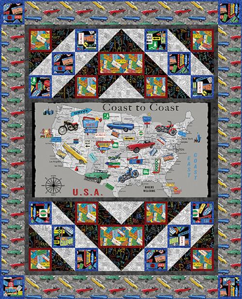 Coast to Coast Panel Quilt #1