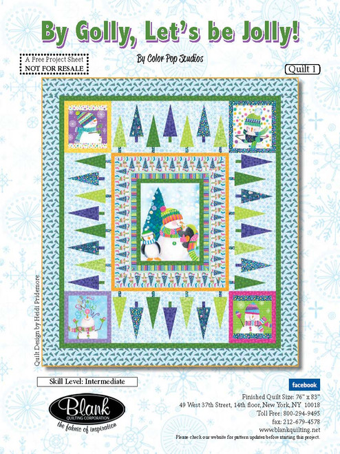 By Golly, Let's Be Jolly Quilt! #1
