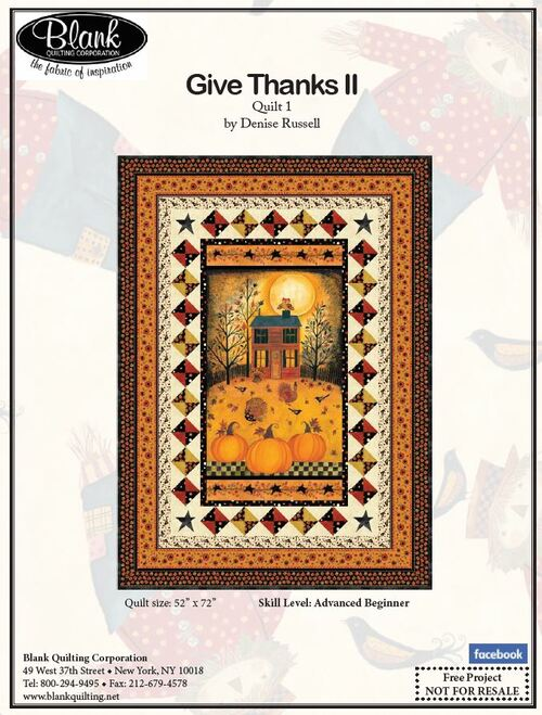 Give Thanks II Quilt #1