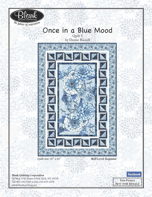 Once In a Blue Mood Quilt #1