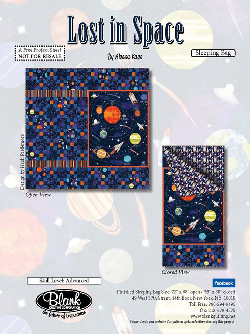 Lost in Space Sleeping Bag