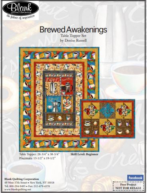 Brewed Awakenings Table Topper Set