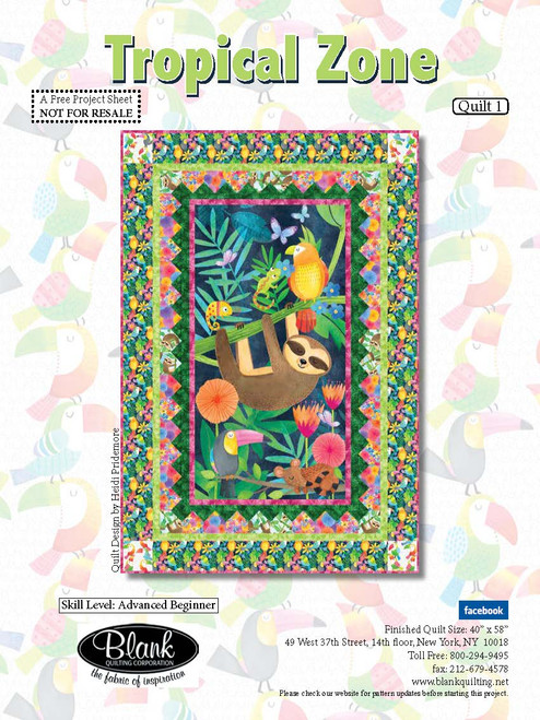 Tropical Zone Quilt #1