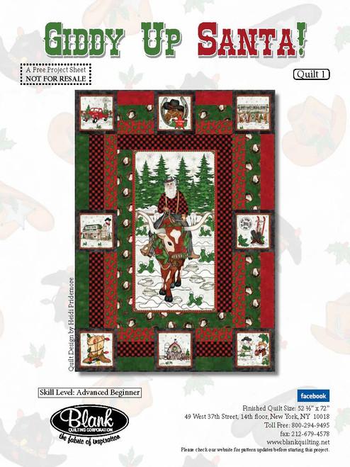 Giddy Up Santa! Quilt #1