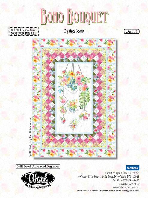 Boho Bouquet Quilt #1