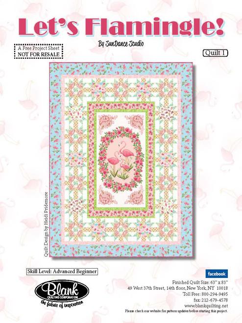 Let's Flamingle Quilt #1