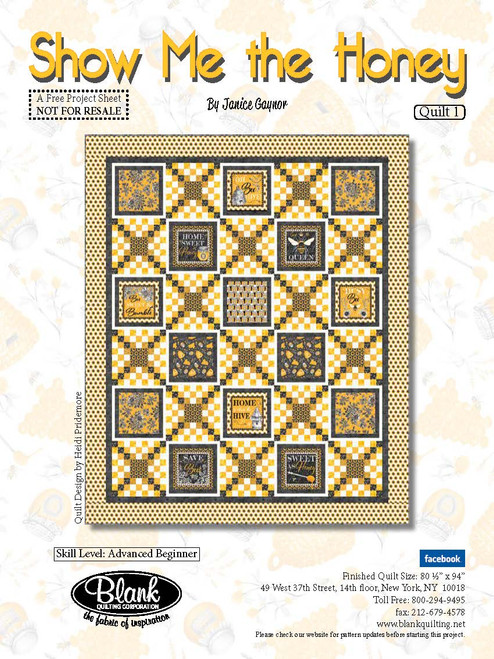 Show Me The Honey Quilt #1