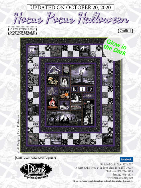 Hocus Pocus Halloween Quilt #1