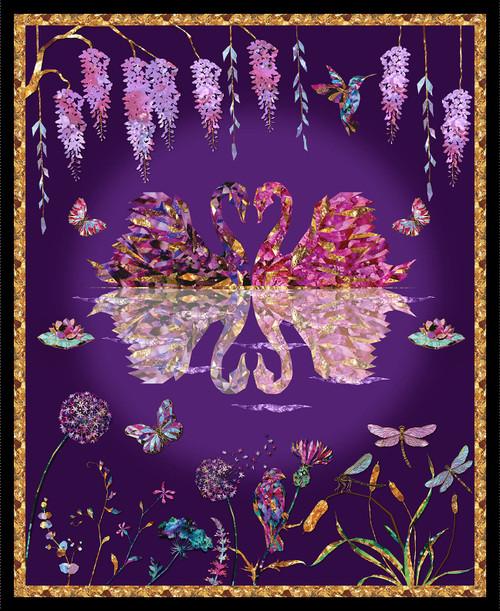 1639P-55 Purple    Swan Lake -Digital
