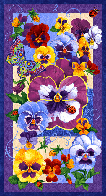 2152P-70 Periwinkle    Pansy Prose