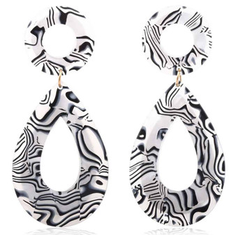 Acrylic Dripping Painted Earrings