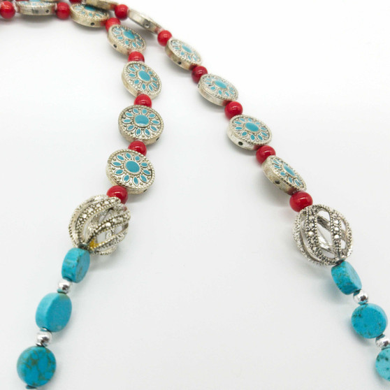 Red and Turquoise Beads