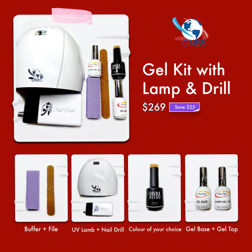 Gel Kit with Lamp & Drill