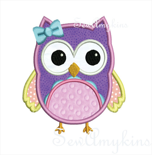 Girl Owl applique