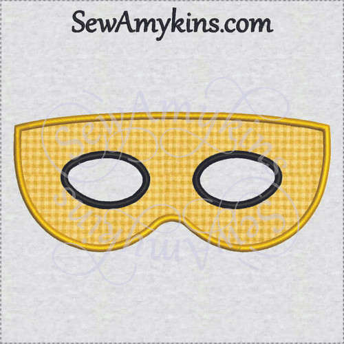 basic simple halloween mask applique machine embroidery design