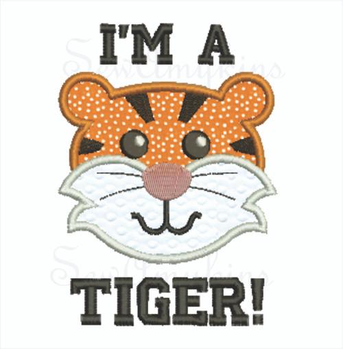 Tiger applique I'm A Tiger