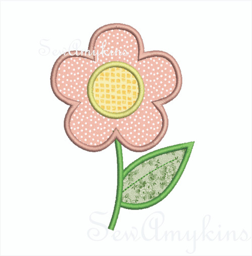 Flower daisy applique v1