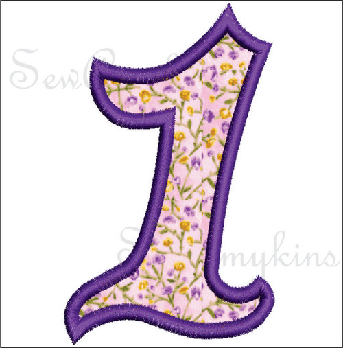 Girly Numbers applique 3 Sizes