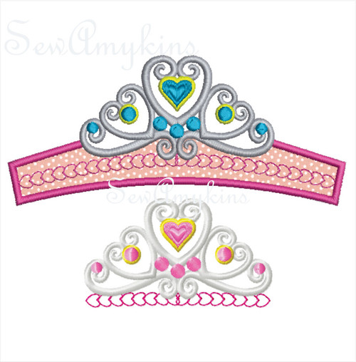 Tiara crown lace look pageant princess