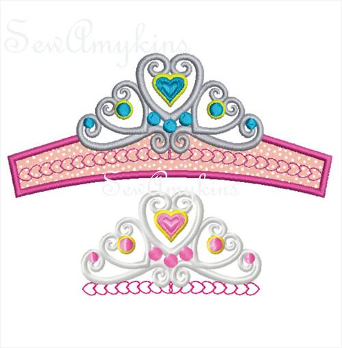 Tiara crown lace look pageant princess