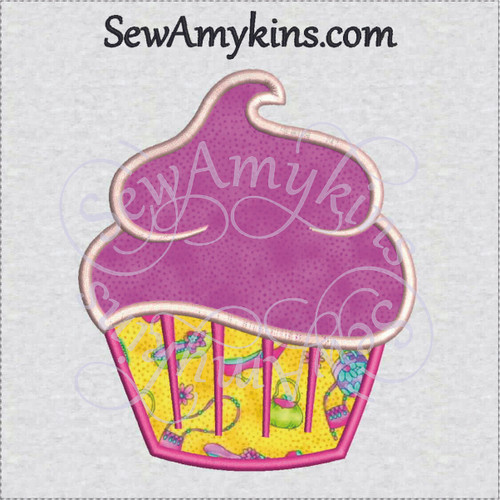 cupcake applique machine embroidery design cup cake frosting sewamykins