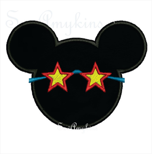 Mickey Mouse applique sunglasses