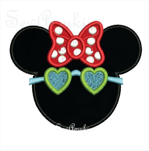 Minnie Mouse applique sunglasses